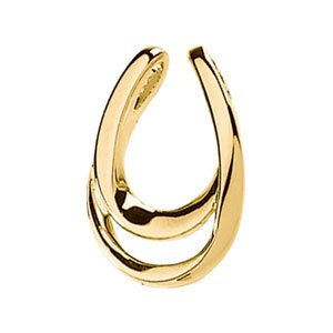 14K Yellow Gold PENDANT Pendant Enhancer Ring Size 6