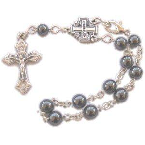Hematite Beads chaplet Rosary (Bead size 6mm- 8