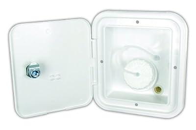 JR Products JFE12-A Polar White Key Lock Gravity Water Hatch