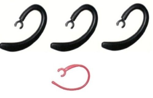 """3 Piece Universal Replacement Ear Hooks """"No-Break® Clamps"""" Padded / Heavy-Duty/ Comfortable For Bluetooth Headsets. Compatiblity: Jawbone® Eratm Shadow Boxtm / Midnighttm / Icontm / Motorola® Hx1 / Samsung® Hm1900 / + 1 Raspberry Earhook Manufactured By G"""
