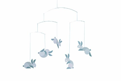 Flensted Mobiles Nursery Mobiles, Circular Bunnies