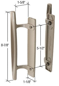 Stone 8-7/8″ Sliding Glass Door Handle Set; 1-5/8″ Projection for Andersen Doors