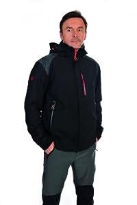 Northland Herren Outdoor Jacke Exo Pro Str Marcus Jacket, black/black/red, S, 02-05823
