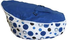 BayB Brand Baby Bean Bag - Filled - Ships in 24 hours! (Blue)