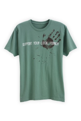 Green 3 Apparel Men'S Made In The Usa Organic Cotton Support Your Local Farmer (S, Grass) front-312338