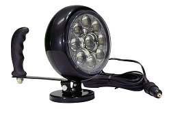Hand Magnetic Led Spotlight - Adjustable Tilting Base - 30 Watts - 215,000 Candlepower(-Battery Clam