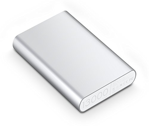 Fremo® P130 13000mAh Power Bank External Battery Charger For iPhone 5s 5c 5,iPad Air mini, Galaxy S5 S4, Note 3 2,Galaxy Tab, Nexus, HTC One,One 2 (M8), PS Vita and more-Silver