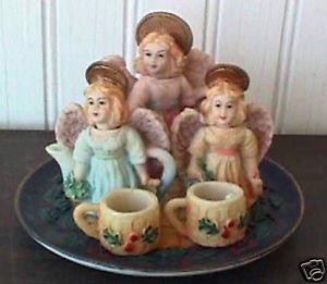 Miniature Angel Christmas Tea Set