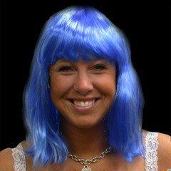 Neon Wig/Blue