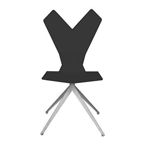 Tom-Dixon-Y-Chair-Drehstuhl-schwarz-Gestell-Aluminium