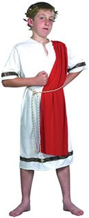 Just For Fun Roman Emperor Fancy Dress Costume (Child Size) - Small