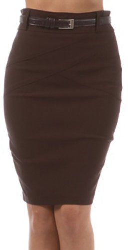 Sakkas 8831 Knee Length Stretch Pencil Skirt