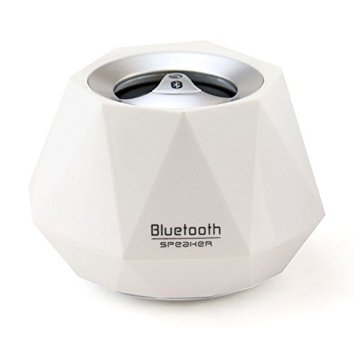 Lb1 High Performance New Wireless Bluetooth Mini Speaker For Sony Vaio Vgp-Bps13B Notebook Laptop Diamond Bluetooth Speaker With Built-In Microphone For Hands-Free Phone Call (White)