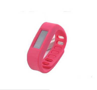 The Bestdeal Bluetooth Sync Healthy Smart Bracelet Sport Fitness Tracker Android-Compatible(Rose red color)