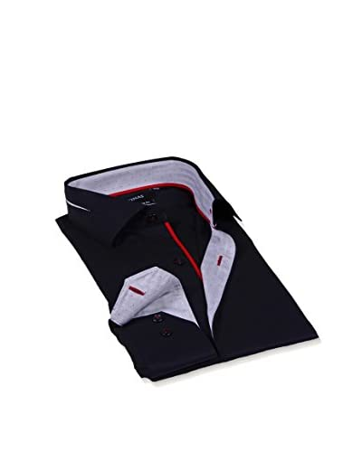 Levinas Men's Fashion Dress Shirt with Contrast Trim