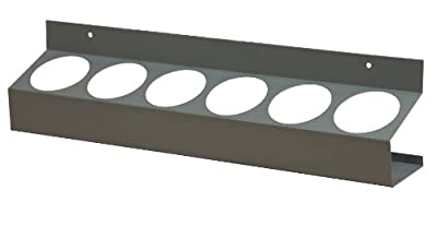 """Durham 385-95 Gray Cold Rolled Steel 6 Sections Aerosol Can Caddy, 21-1/2"""" Width x 5-1/4"""" Height x 3-1/8"""" Depth from Durham Manufacturing"""