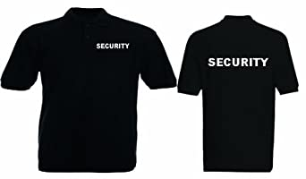 CUSTOM PRINTED PERSONALISED UNISEX SECURITY POLO SHIRT