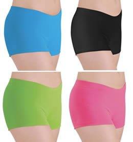 DanceNWear Adult Nylon/lycra Booty Shorts with Elastic Waistband (24