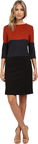 Christin Michaels Women's Rebecca Color Block Dress Black/Grey Dress 6