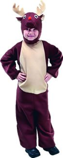 Bristol Novelty Reindeer Costume Suit : Childs Size Mediuml (7-9Yrs)