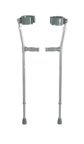Drive Forearm Crutches, Adult, Steel