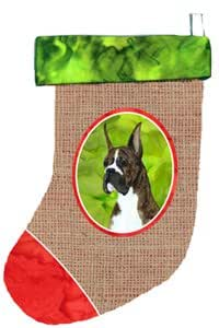 "Caroline's Treasures SS2070-CS Boxer Christmas Stocking, 11 x 18"", Multicolor"