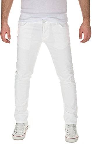 YAZUBI - Jeans Edvin Slim Fit, uomo, white light (205), W38/L38