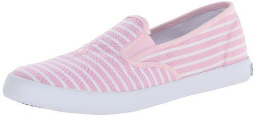 Polo Ralph Lauren Kids Serena Stripe Flats (Little Kid/Big Kid),Pink Stripe,6 M Us Big Kid