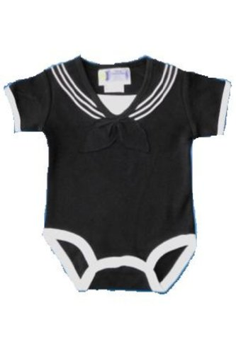 Baby / Infant U.S. Navy Sailor Suit Outfit - Black (6-9 Month) front-624867