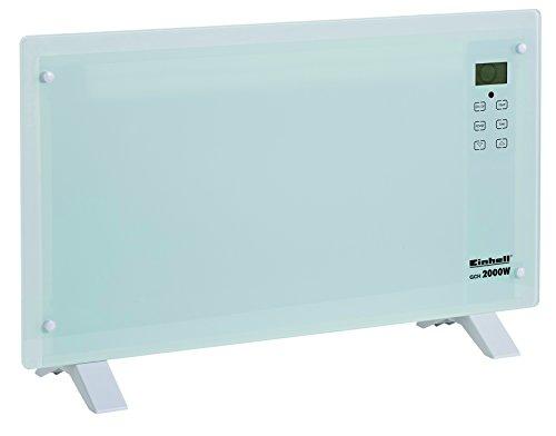 Einhell-Glaskonvektor-Heizung-GCH-2000-W-2000-Watt-2-Heizstufen-LCD-Display-Touchscreen-Timer-Fernbedienung-modernes-Design-Stand-oder-Wandgert-wei