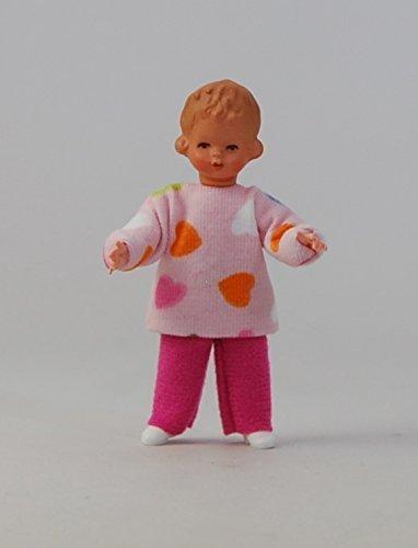 Caco 20178000 Puppe Mädchen 7 cm rosa Biegepuppe