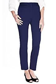 Cotton Rich Flat Front 7/8 Trousers