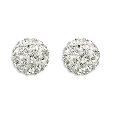 Silver Unisex Shamballa Earring 6mm Crystal Disco Ball Friendship Bead Swarovski Crystals Beads To Suite Your Shamballa Bracelet