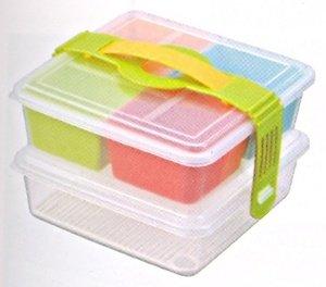 inomata 2 tiers picnic lunch bento box import it all. Black Bedroom Furniture Sets. Home Design Ideas