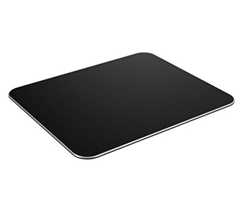 CoJoie Tappetino per mouse da gioco alluminio Gaming mouse pad, Superficie satinata, Antiscivolo, Solido, Nero