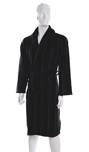 Dark Grey Pierre Roche Fleece Mens DRESSING GOWN Gowns * Robe - M L XL XXL