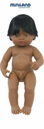Miniland 15'' Anatomically Correct Baby Doll, Hispanic Boy front-857612