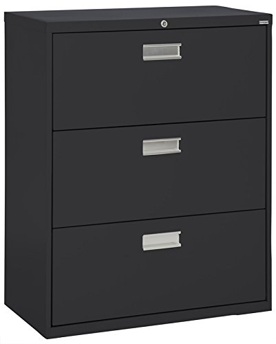 Sandusky Lee LF6A363-09 600 Series 3 Drawer Lateral File Cabinet, 19.25