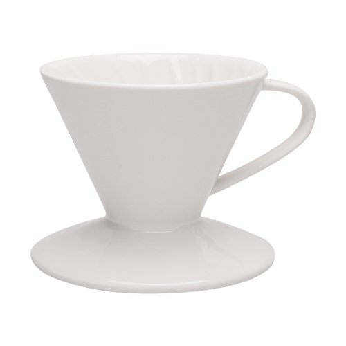 Coffee Dripper - Porcelain Pour Over Cone, 3 Holes - by Sweese (Porcelain Coffee Cone compare prices)