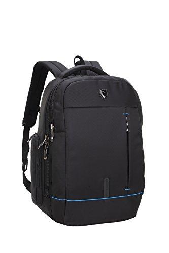 DoubleVillages--zaino porta pc / zaino piquadro / Zaino per laptop/ Zaino Business / zaino scuola uomo e donna-Nero18''-impermeabile
