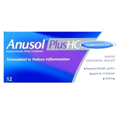 Anusol Plus HC Suppositories 12 [Personal Care]