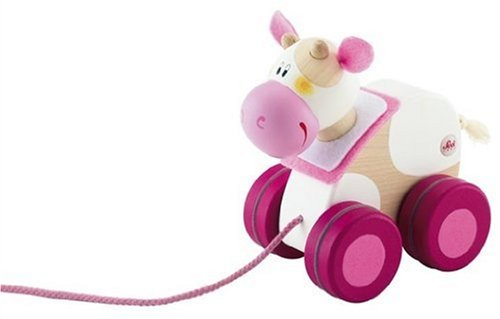 Sevi Mini Pull Along Toy, Cow