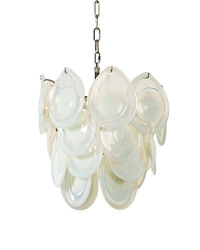Home Philosophy Mini 4-Light Diva Chandelier, Opal White Glass