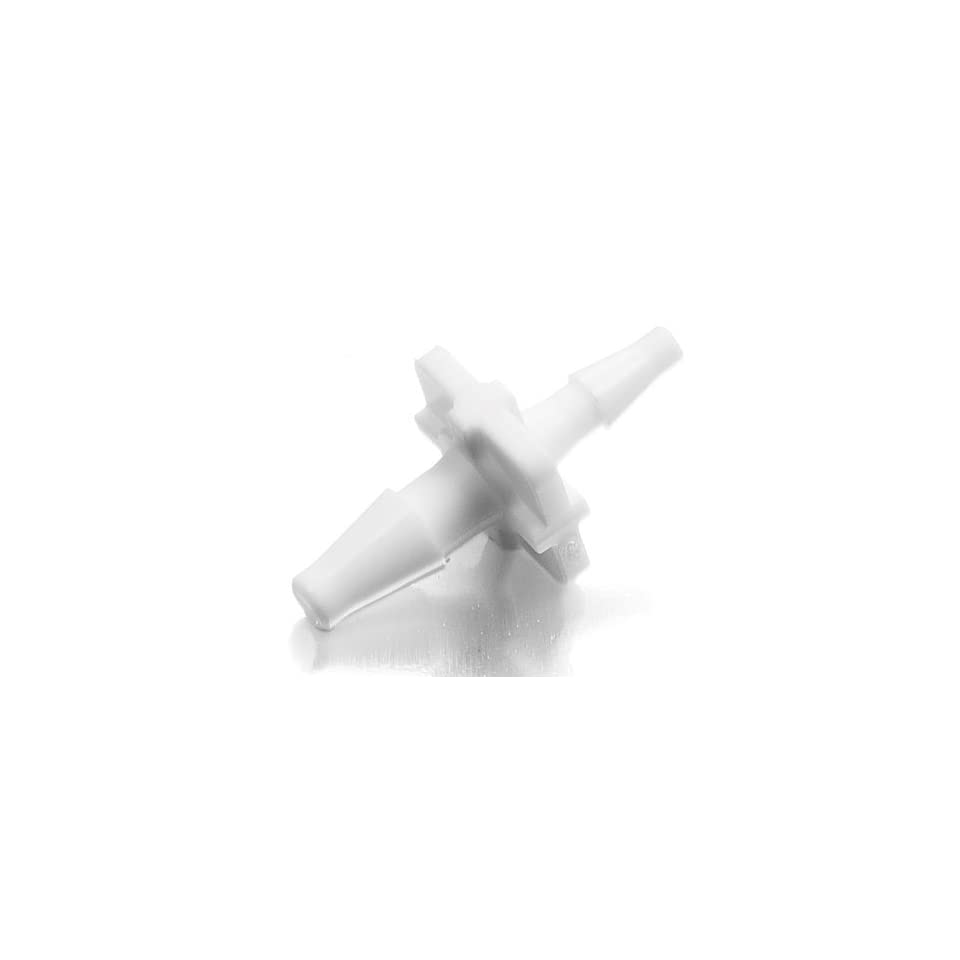 White Nylon Value Plastics Straight Thru Connector Pack of 5 1//16ID Tube Classic Barbs
