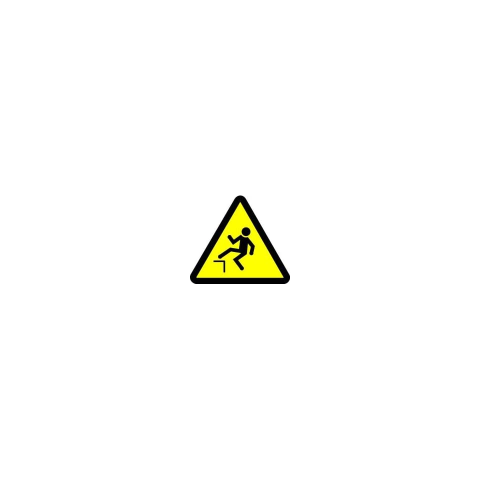 WARNING Labels STEP OFF HAZARD 2 Adhesive Dura Vinyl