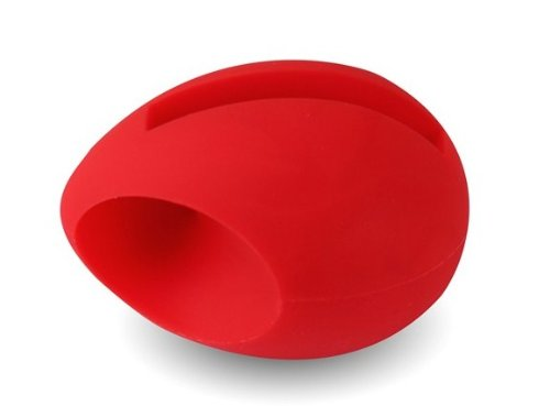 Image of New Style Egg Shaped Stand Speaker Phone Music Base Speaker Amplifier for Iphone 4/4S Red (B008U61R44)