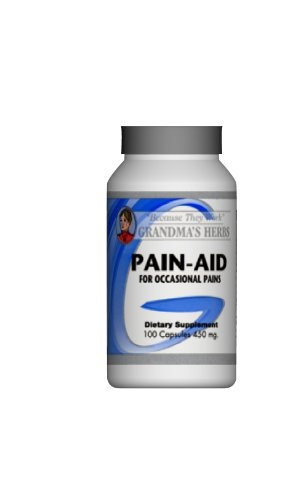 Pain Aid - Herbal Formula Designed To Relieve Headaches, Back Pain, Muscle Pain, Joint Pain - 100 Capsules