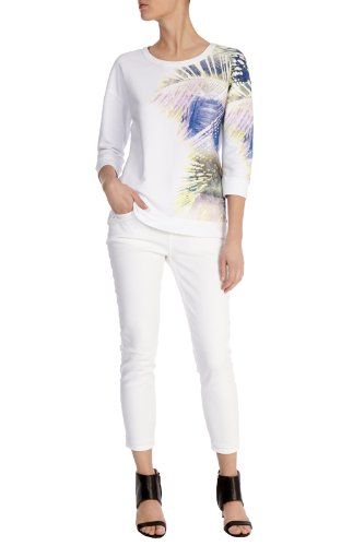 Palm tree print sweatshirt
