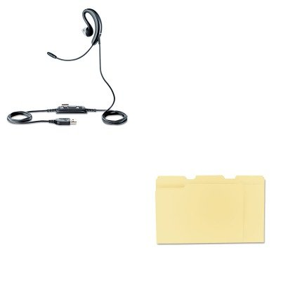 KITJBR2507829209UNV12113 - Value Kit - Jabra UC Voice 250 Monaural Behind-the-Ear Corded Headset (JBR2507829209) and Universal File Folders (UNV12113) kitred5l350unv35668 value kit rediform sales book red5l350 and universal standard self stick notes unv35668
