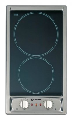 Verona 12 inch Black Electric Cooktop - VEECT212FSS, 220 Volt